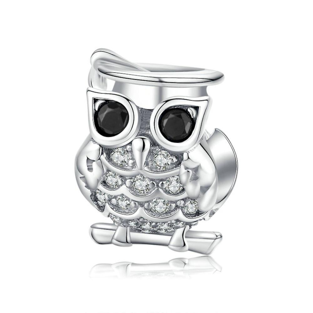 Sterling silver charm Owl