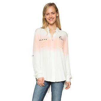Desigual Frauen's Lana Dip Dye Flamingo Shirt