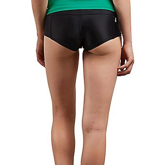Volcom Women's Junior's Simply Solid Boy Cut Bikini Bottom, Svart,, Svart, Storlek