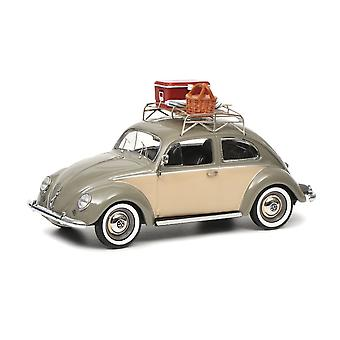VW Beetle with Picnic Baskets Diecast Model Car