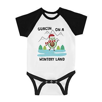 Gaucin Wintery Land söpö BKWT vauva baseball Bodysuit X-Mas läsnä