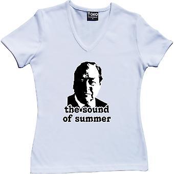 John Arlott: The Sound of Summer V-Neck White Women's T-Shirt