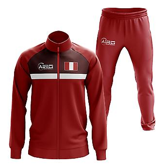 Peru Concept Football Tracksuit (Red)
