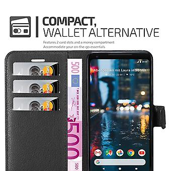 Cadorabo Case for Google Pixel 2 XL Case Cover - Cell phone case in textured faux leather with stand function and card compartment – Case Cover Protective Case Case Book Folding Style
