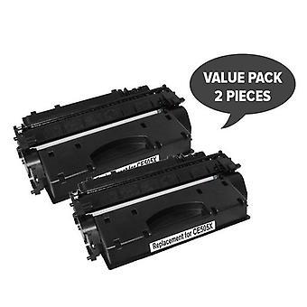 CE505A 05A Cart 319i Black Premium Generic Toner (Set of 2)