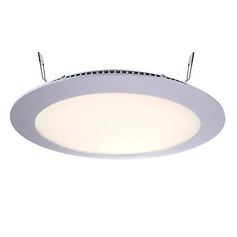LED recessed ceiling lamp LED panel 16 13W 2700K silver D236mm dimmable aluminium IP20