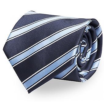 Slips, Tie, Ties, Binder, 8cm, Light Blue White Stripes, Fabio Farini