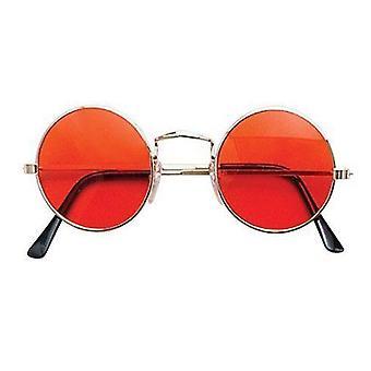 Bristol Novelty Lennon Glasses Orange/gold Frame