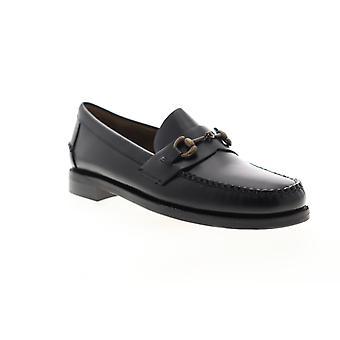 Sebago Classic Joe Citysides  Mens Black Leather Dress Loafers Shoes