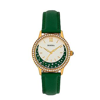 Bertha Dolly Leather-Band Watch - Green