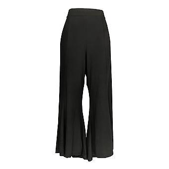 G.I.L.I. got it love it Women's Pants Flounce Hem Pull On Black A309916