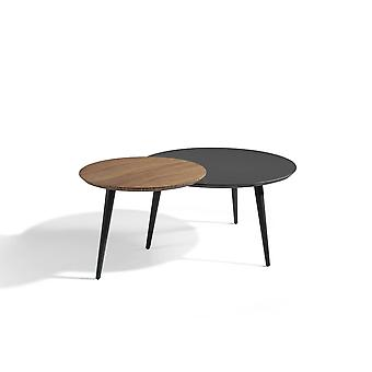 Duo round coffee table angel cerdá - diameter 80 cm and 60 cm