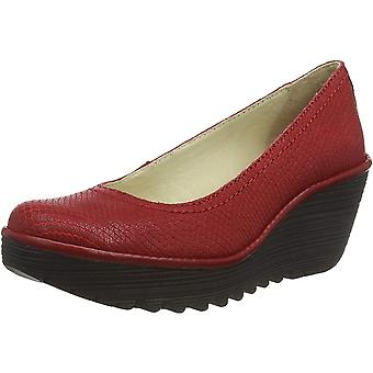 Fly London Yoni171fly Wedge Round Toe Court Shoe