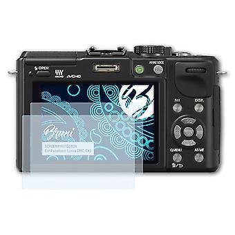 Bruni 2x Screen Protector kompatibel med Panasonic Lumix DMC-GX1 Beskyttelsesfilm