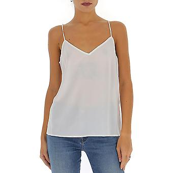 Equipment Q099e570brightwht Women's White Silk Top