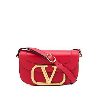 Valentino Garavani Tw2b0g09zxlju5 Women's Red Leather Shoulder Bag