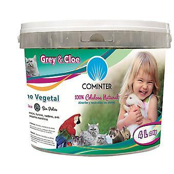 Cominter grå & Cloe Lecho Papel vegetabilsk para Roedores (små kæledyr, sengetøj)