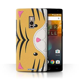 STUFF4 Case/Cover for OnePlus 2/Two/Tiger/Animal Stitch Effect