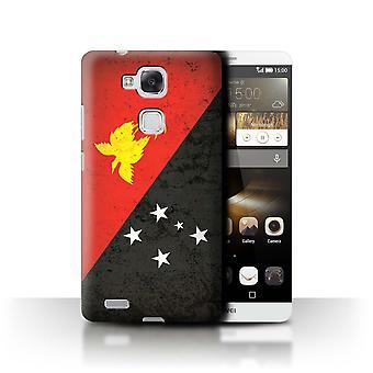 STUFF4 Case/Cover for Huawei Ascend Mate7/Papua New Guinea/Oceania Flag