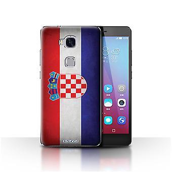 STUFF4 Gehäuse/Abdeckung für Huawei Honor 5 X/GR5/Kroatien/kroatische/Flags
