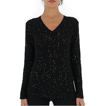 Fabiana Filippi Mad129b109b108825 Women's Black Wool Sweater