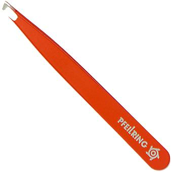 Arrow ring tweezers slanted stainless INOX orange