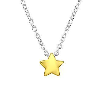 Yıldız - 925 Gümüş Düz Kolye - W17719x