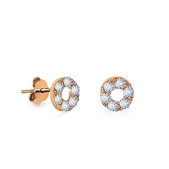 Boucles d'oreilles Stud Sun Diamonds et 18K Gold (Single Piece)
