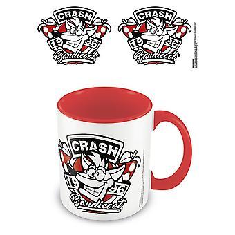 Crash Bandicoot 1996 Emblem rot Innen Becher