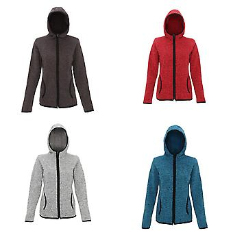 Tri Dri Womens/Ladies Melange Knit Fleece Jacket