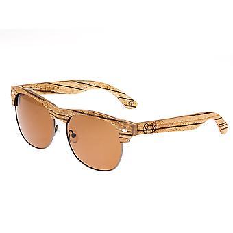 Earth Wood Moonstone Polarized Sunglasses - Zebra/Brown