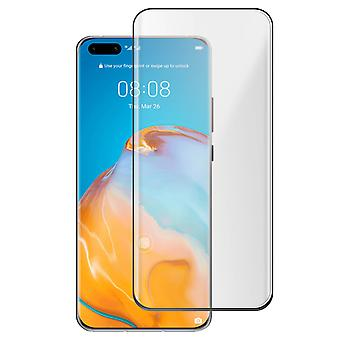 4Smarts Huawei P40 Pro Tempered Glass clear Shockproof Screen protector - Black