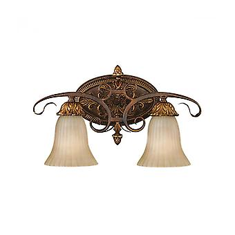 Sonoma Valley Wall Lamp, Schildpad kleur, 2 bollen