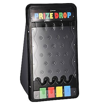 """WinSpin 25""""x14"""" Mini Tabletop Disk Drop Plinko Prize Board Game with 8 Playing Pucks Carnival Games Party"""