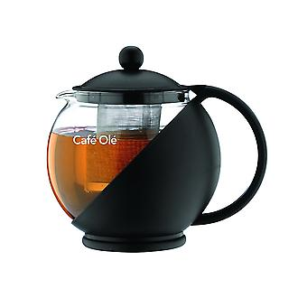 Cafe Ole Teapot with Infuser Black 700ml