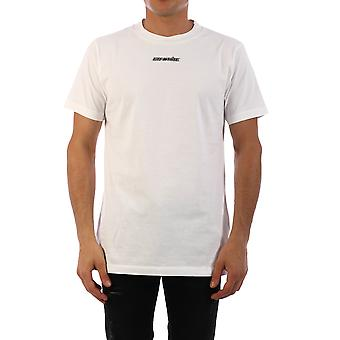 Off-white Omaa027e20jer0050125 Mænd's Hvid Bomuld T-shirt