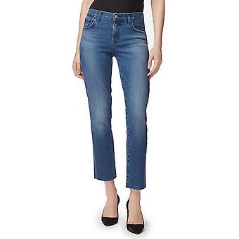 J Brand - Adele - Mid Rise Straight Jeans - Blauw