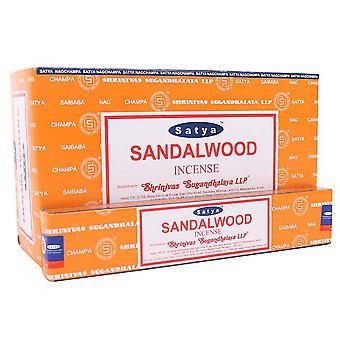 Satya Sandalwood Incense Sticks (Box Of 12 Packs)