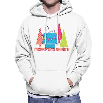 Jordnötter Snoopy Dekorerad Kennel Merry och Ljusa män & apos; s Hooded Sweatshirt