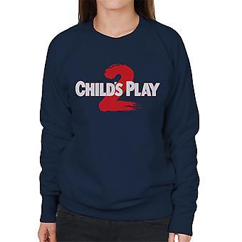 Chucky Childs Play 2 Logo Women's Sweatshirt