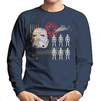 Star Wars Stormtrooper Cartoon Sketch Art Men's Sweatshirt