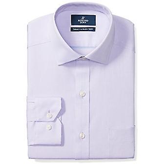 BUTTONED أسفل الرجال & ق تناسب تناسب انتشار ذوي الياقات البيضاء الصلبة غير الحديد اللباس قميص (بو...
