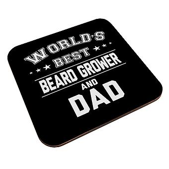 Worlds Best Beard Grower And Dad Coaster