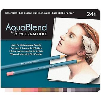Spectrum Noir Spectrum Aquablend Watercolour Pencils Essentials (24pc) (SPECAB-ESS24)