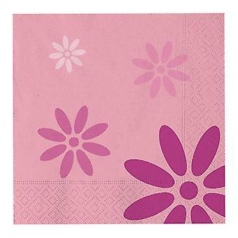 Rosa Trendy 27cm geformte Papier Party Platten