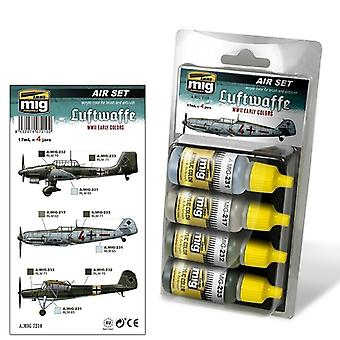 Ammo by Mig Luftwaffe WWII Early Colours Acrylic Paint Set