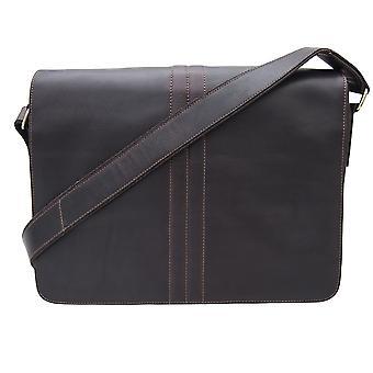Primehide Mens Laptop Bag With Compartment Shoulder Messenger Business 5820