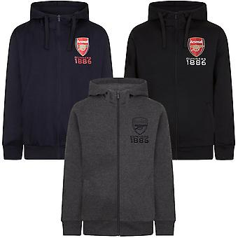 Arsenal FC officiella fotboll gåva Mens Fleece Zip Hoody