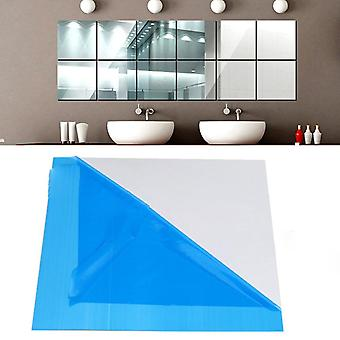 16 Pcs Miroir Tile Wall Sticker - Square Self Adhésive Room Decor Stick On