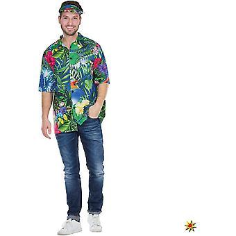 Hawaje Koszula Męska Aloa Beach Costume Surfer Carnival Beach Party